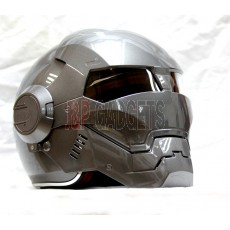 Masei 610 Super Hero Modular Motorcycle Helmet - DOT Approved Heavy Dark