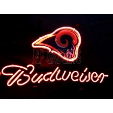 "NEON Sign - St. Louis Rams Budweiser 13"" x 8"""