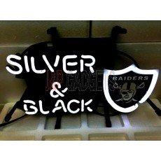 "NEON Sign - Oakland Raidiers Silver & Black 13"" x 8"""