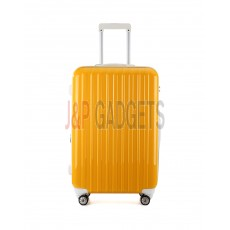 """AIRCROSS Luggage A55 Yellow Hard Case Expandable Trolley Luggage - 26"""""""