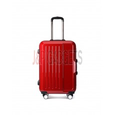 "AIRCROSS 2PC Set Luggage A56 Red Hard Case Trolley Luggage -20""& 24"""
