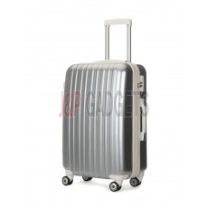 "AIRCROSS 2PC Set Luggage A55 Grey Hard Case Expandable Trolley Luggage - 24""26"""