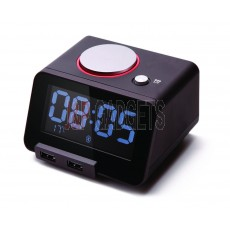 HOMTIME C1-Pro-Black Alarm Clock / USB Charger / Thermometer