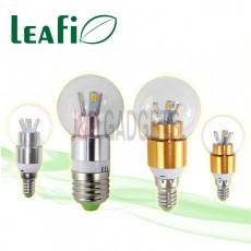 LEAFI 3W E14 / E27 LED Energy Saving Candle Spherical Light Bulbs