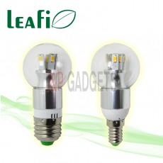 5 x LEAFI 5W E14 / E27 LED Energy Saving Spherical Light Bulbs Globes