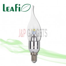 5 x LEAFI 5W E14 LED Energy Saving Candle Flame Light Bulbs Globes