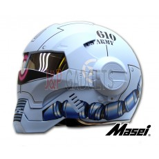 Masei 610 Super Hero Modular Motorcycle Helmet - DOT Approved Storm Trooper Blue