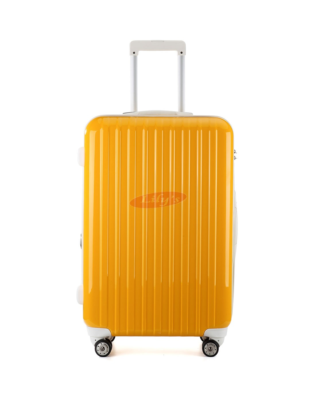 """AIRCROSS 3PC Set Luggage A55 Yellow Hard Case Expandable Trolley Luggage - 20""""24""""&26"""""""