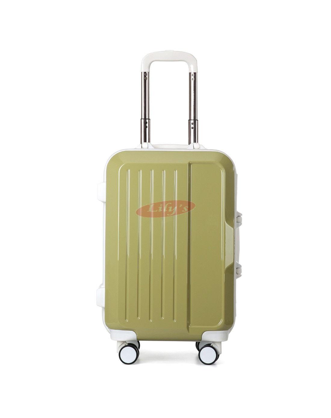 """AIRCROSS Luggage A56 Green Trolley Luggage Case - 20"""""""