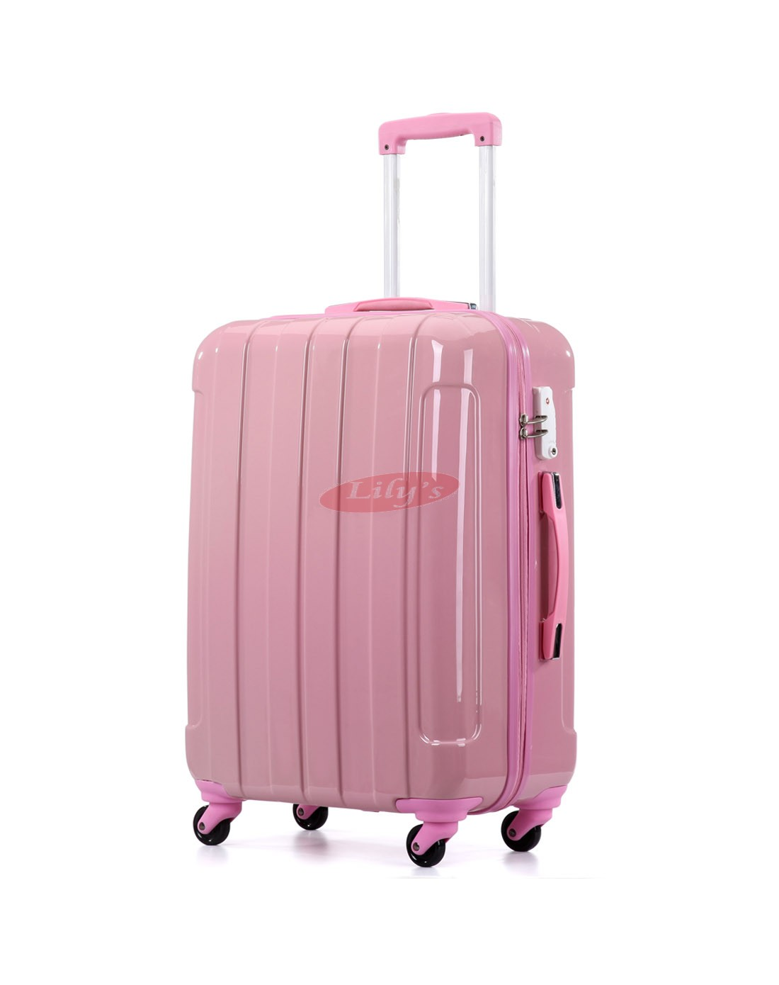 "AIRCROSS 3PC Set Luggage i30 pink Hard Case Trolley Luggage - 19""23""& 26"""