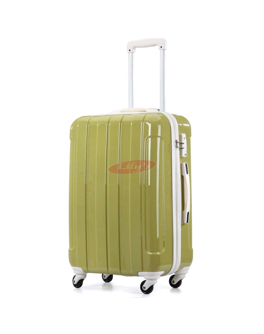 """AIRCROSS Luggage i30 Green Hard Case Trolley Luggage - 26"""""""