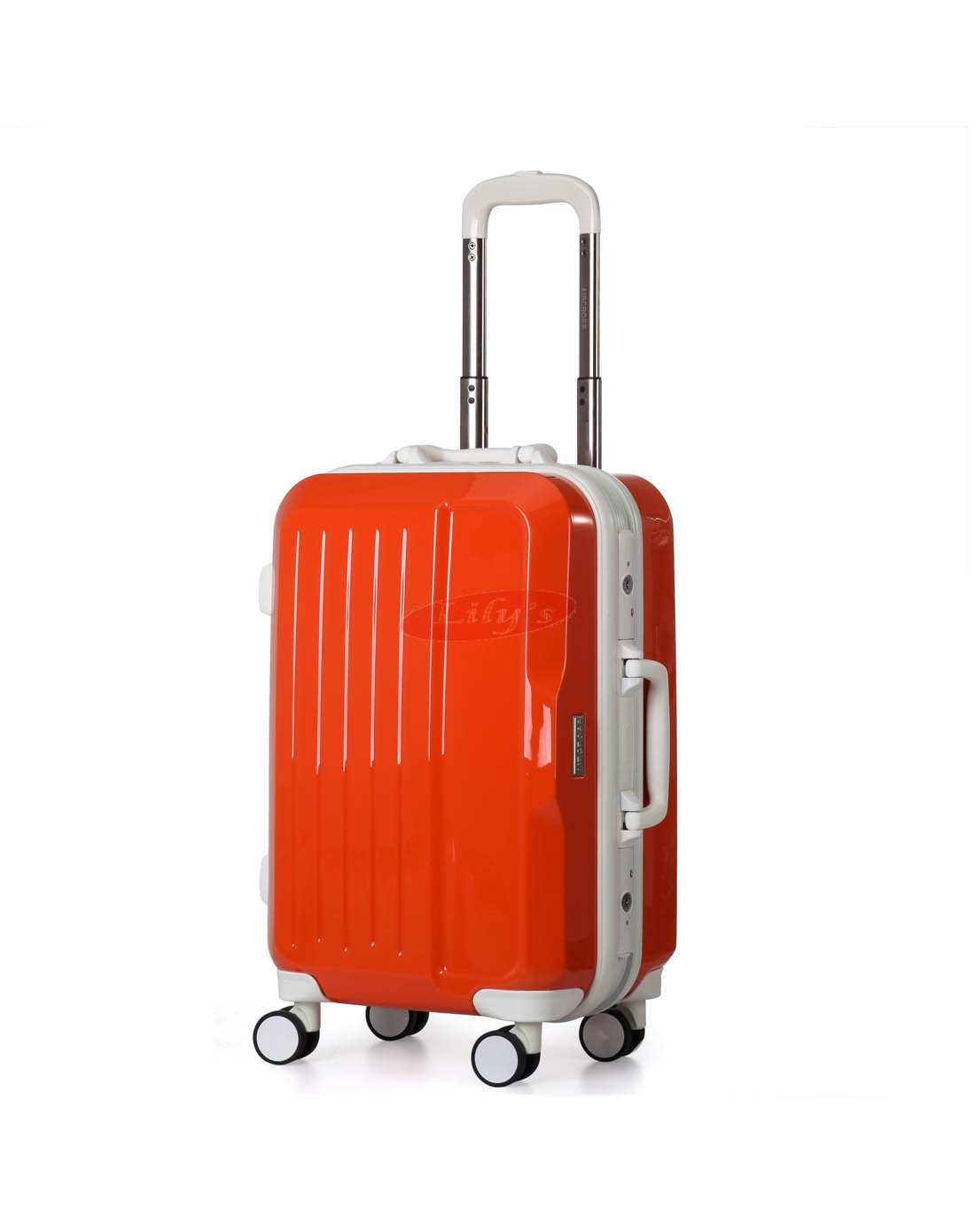 "AIRCROSS 2PC Set Luggage A56 Orange Hard Case Trolley Luggage -20""& 24"""