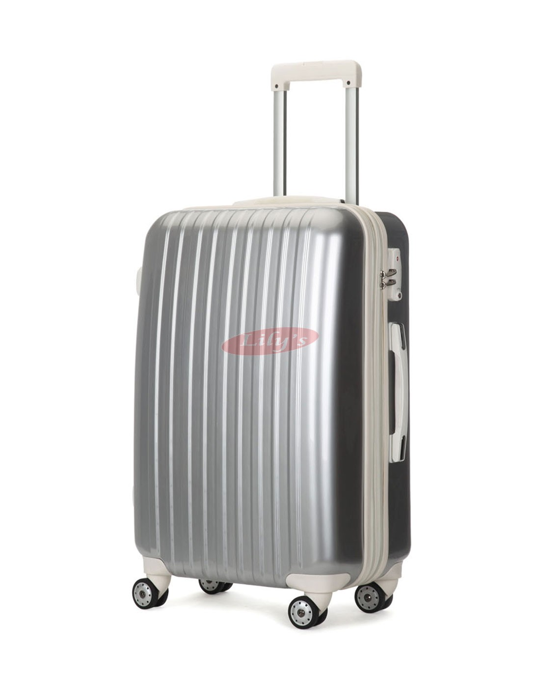 """AIRCROSS 3PC Set Luggage A55 Grey Hard Case Expandable Trolley Luggage - 20""""24""""&26"""""""