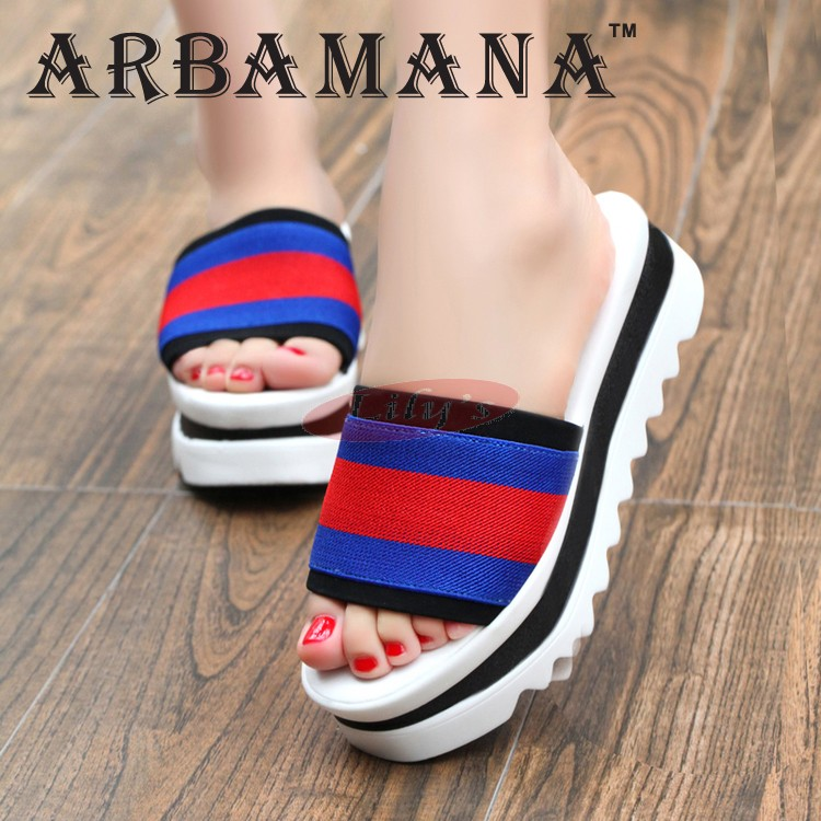 Beautiful Fashion Beach Slippers Great Gift Sandals Shoes for Her | Red & Blue