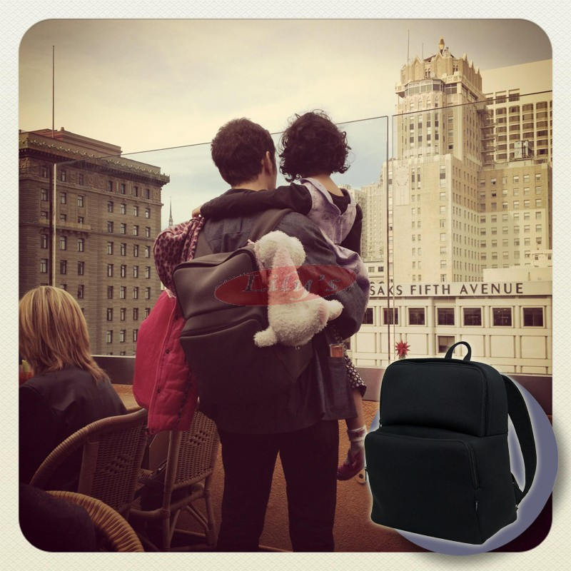 "GYMS 13"" Unisex Black Neoprene Backpack - Great Gift Idea"