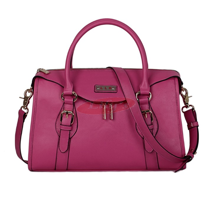 Gorgeous Ladies Fashion Leather Shoulder Bag / Tote Handbag - Magenta