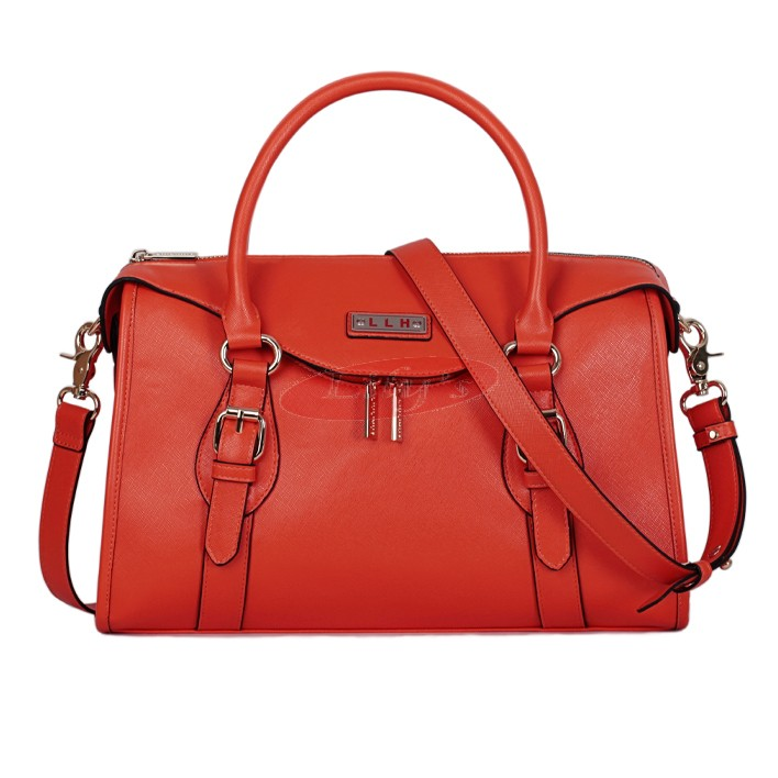 Gorgeous Ladies Fashion Leather Shoulder Bag / Tote Handbag - Scarlet