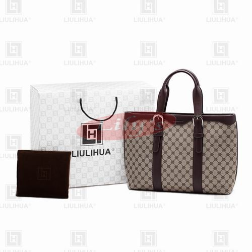LLH Fortune Canvas With Dark Leather Trim HangBag