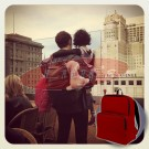 "GYMS 13"" Unisex Red Neoprene Backpack - Great Gift Idea"