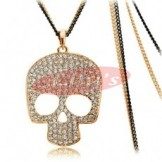 Nice golden necklace with crystal - gift idea