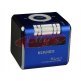 Stylish Aluminium Portable Mini Speaker / FM Radio / Alarm Clock-Blue