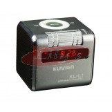 Stylish Aluminium Portable Silver Mini Wireless Speaker / FM Radio / Alarm Clock