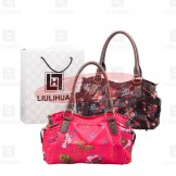 LiuLiHua LLH Luxuriant Printed Ladies Leather Bowler Bag
