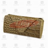 LLH Crocodile Skin Handmade Purse