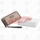 LLH Fortune Canvas Double Zip Around Purse