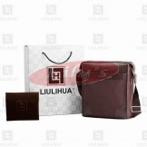LLH Canvas With Leather Trim Designer Messenge Bag