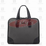 LLH Lattice Canvas Printed Designer Briefcase