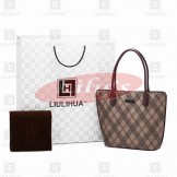 LLH Cross Stripes Canvas Designer Shoulder bag