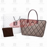 LLH Cross Stripes Canvas Designer Tote