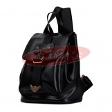 Stylish Ladies Black Leather Backpack Fashion Bag - Great Gift Idea