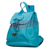 Stylish Ladies Blue Leather Backpack Fashion Bag - Great Gift Idea