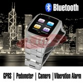 TW Classic Stainless Steel Smart Watch - Touch Screen / Built-in Camera /  Bluetooth - Silver Color