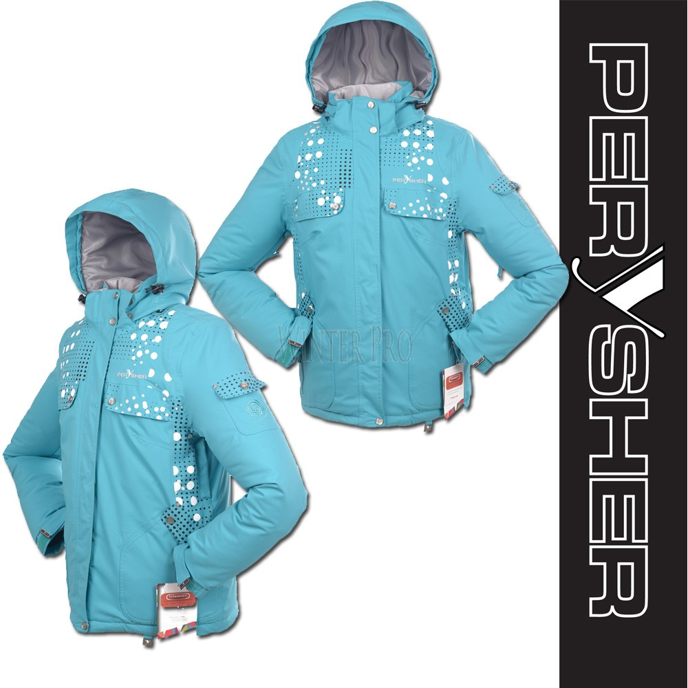 PERYSHER  Zara V2 Womens Aqua Snowboard Jacket / Ski Jacket for Ladies