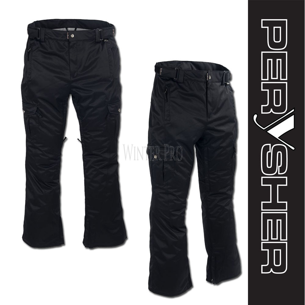 PERYSHER  LIBERTY Womens Black Ski Pants / Snowboard Pants for Ladies
