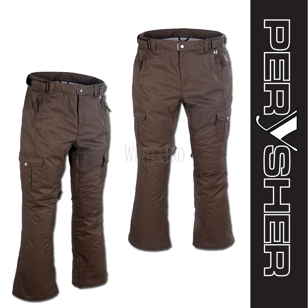 PERYSHER  LIBERTY Womens Chocolate Ski Pants / Snowboard Pants for Ladies