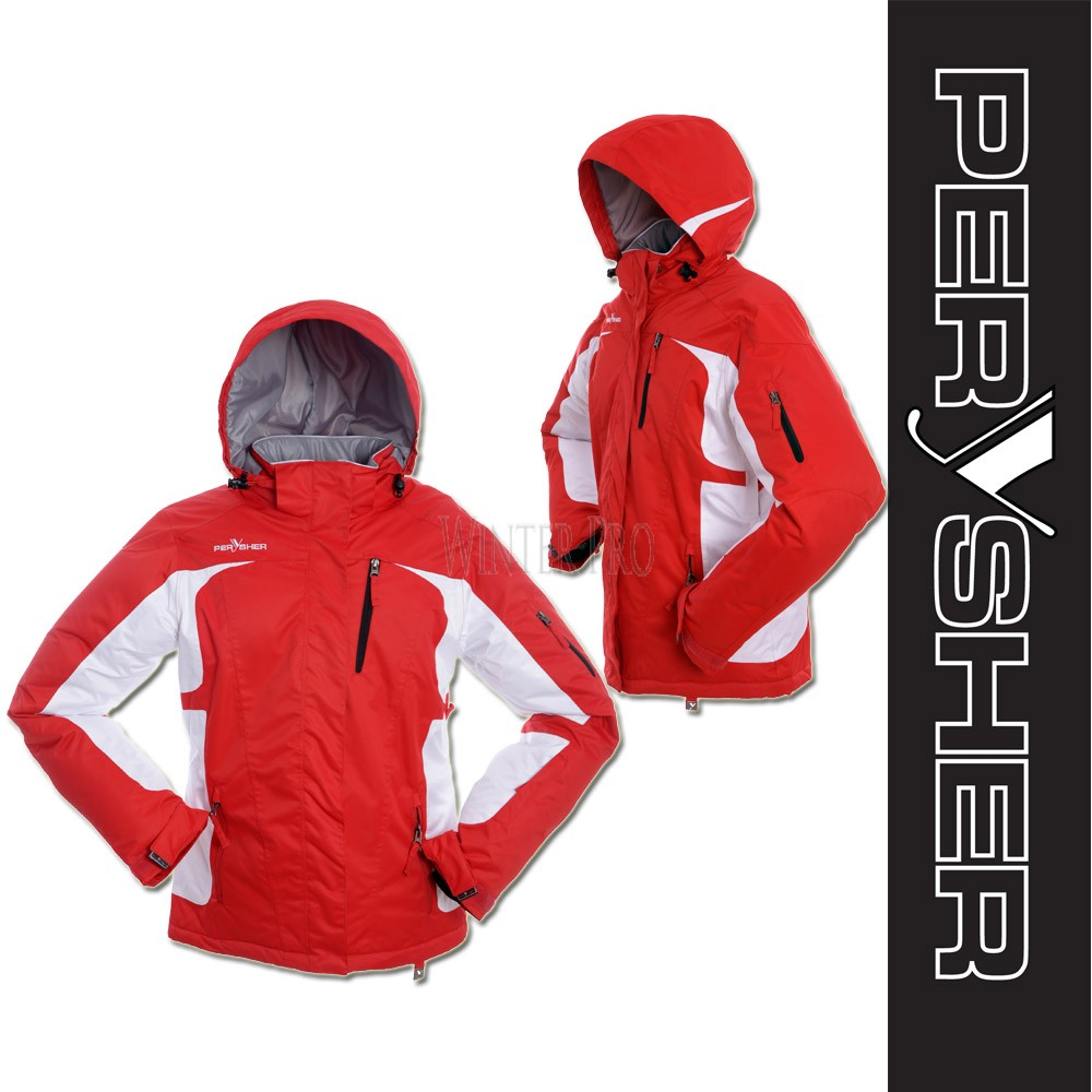 PERYSHER  Racer V2 Womens Snowboard Jacket / Ski Jacket for Ladies - Red