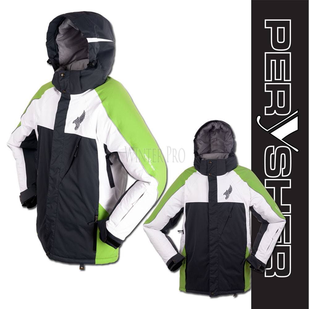 PERYSHER Performance Green Mens Snowboard Jacket / Ski Jacket