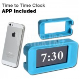 Designer Blue Alarm Clock Cover & App for iPhone - Made In Taiwan