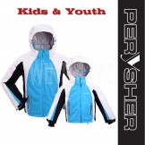 PERYSHER Extra Warm Blue Snowboard Ski Jacket for Kids & Youth