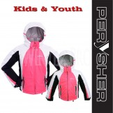 PERYSHER Extra Warm Snowboard Ski Jacket for Kids & Youth - Sweet Candy Pink