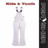 PERYSHER Extra Warm White Snowboard Ski Bibs / Pants for Kids & Youth