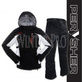 PERYSHER Racer V2 Ladies Snowboard / Ski Jacket & Liberty Pants (Onyx Black Suit)
