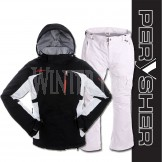 PERYSHER Racer V2 Board / Ski Jacket & Pants for Ladies | Contrast Black & White