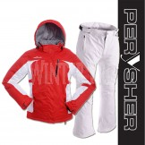 PERYSHER Racer V2 Ladies Snowboard / Ski Jacket & Pants | Red & White Suit