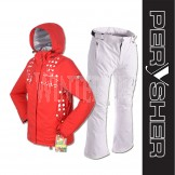PERYSHER  Zara V2 Ladies Board / Ski Jacket & Pants for Girls (Snowy Red Suit)