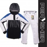 PERYSHER Performance Mens Snowboard / Ski Jacket & Pants - Azure Combo Suit